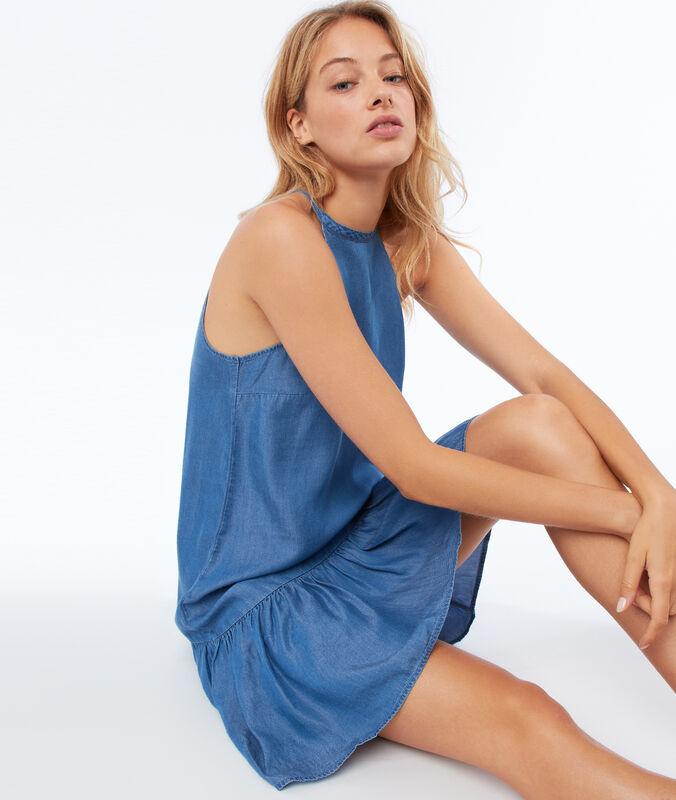 Kleid aus tencel® mittelblau verwaschen.