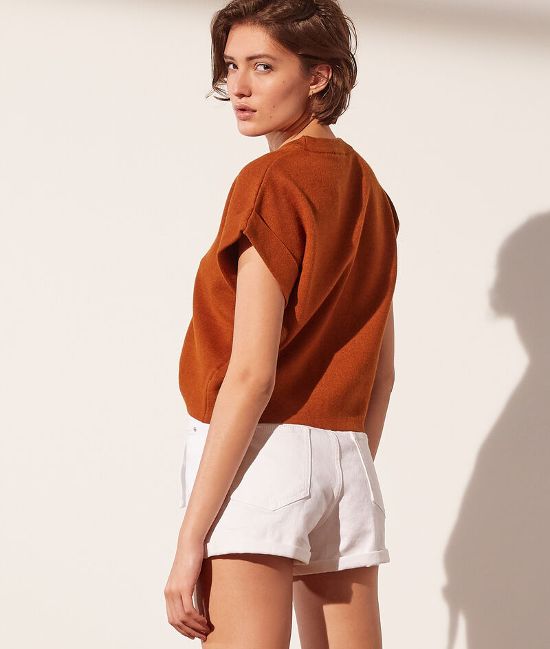 Pullover aus umweltfreundlichem Material mit kurzen Ärmeln