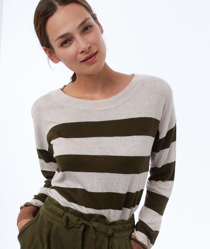 Pullover mit u-boot-ausschnitt beige.