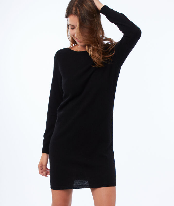 Pulloverkleid, 100 % kaschmir schwarz.