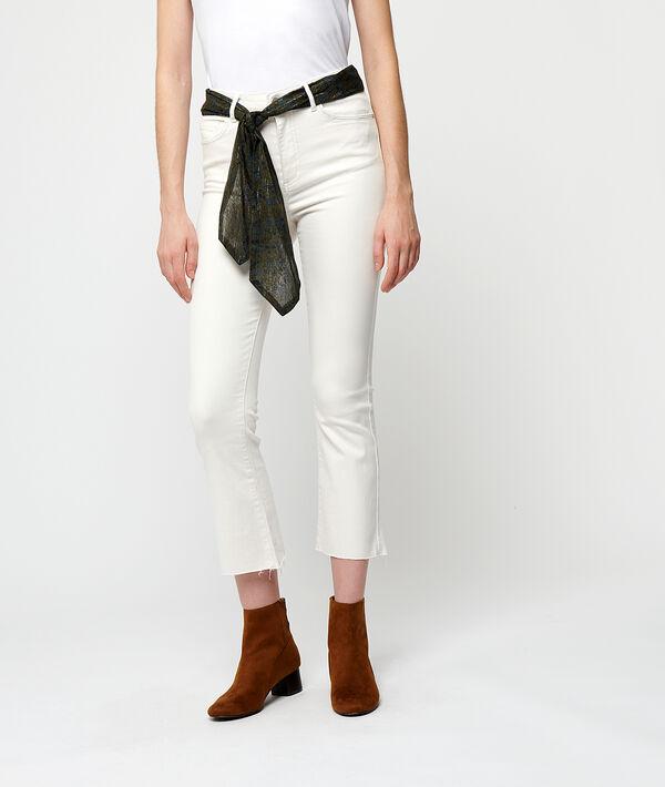 Schlag-Jeans mit Schal
