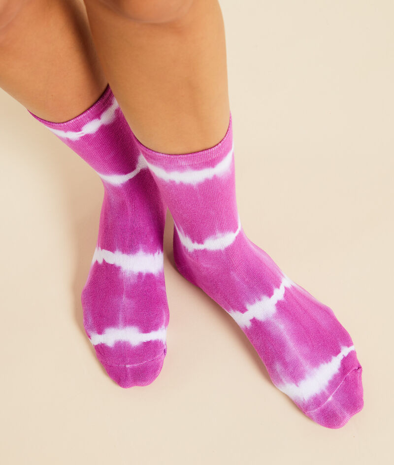 Chaussettes mode tie and dye