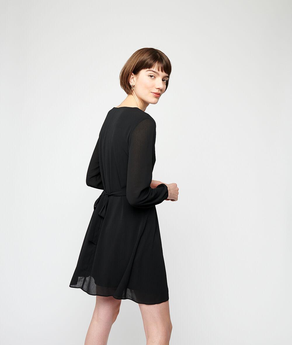 fließendes kleid, im nacken zum binden - - noir - etam