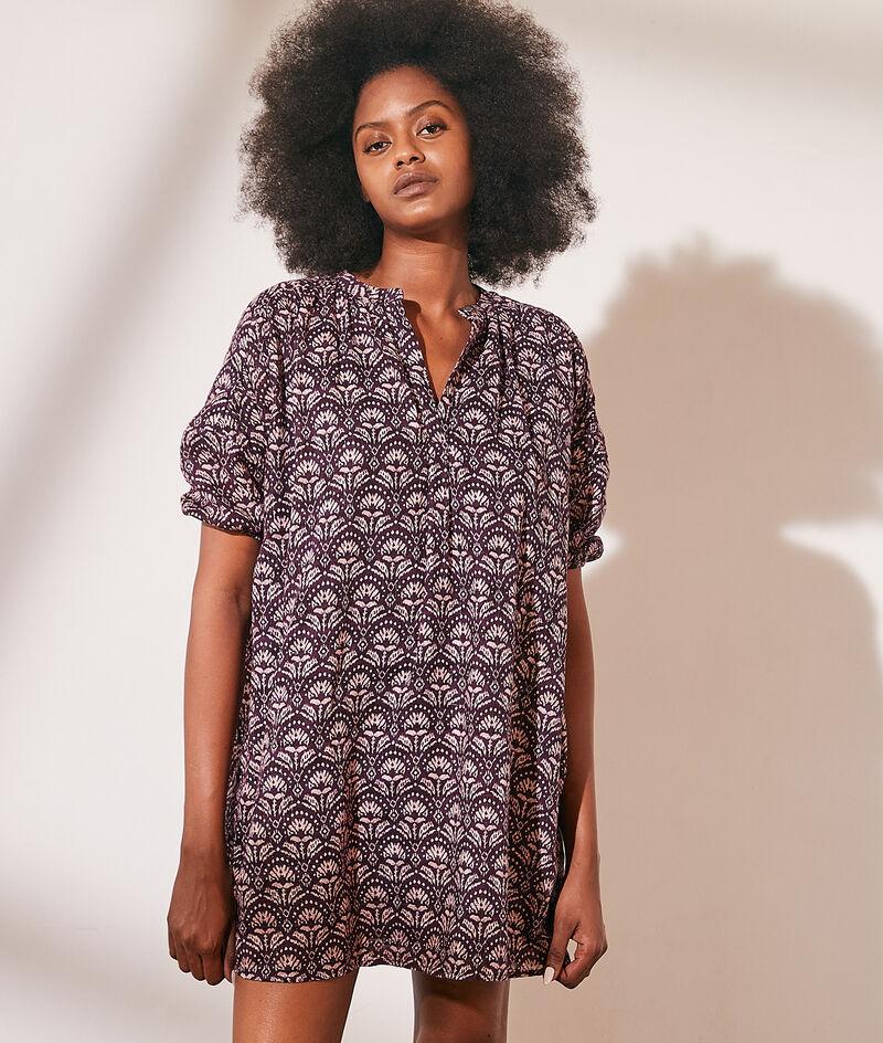 Robe tunique imprimée en coton