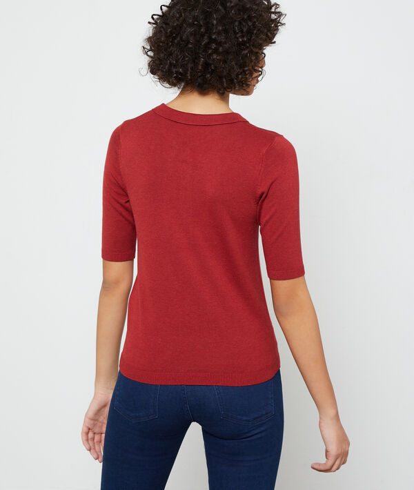 Poloshirt aus feinem Strick