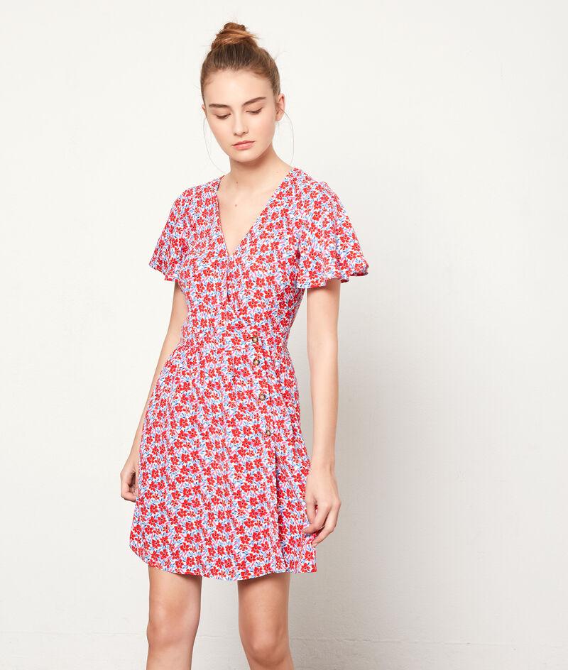 Kleid mit floralem Print zum Knöpfen