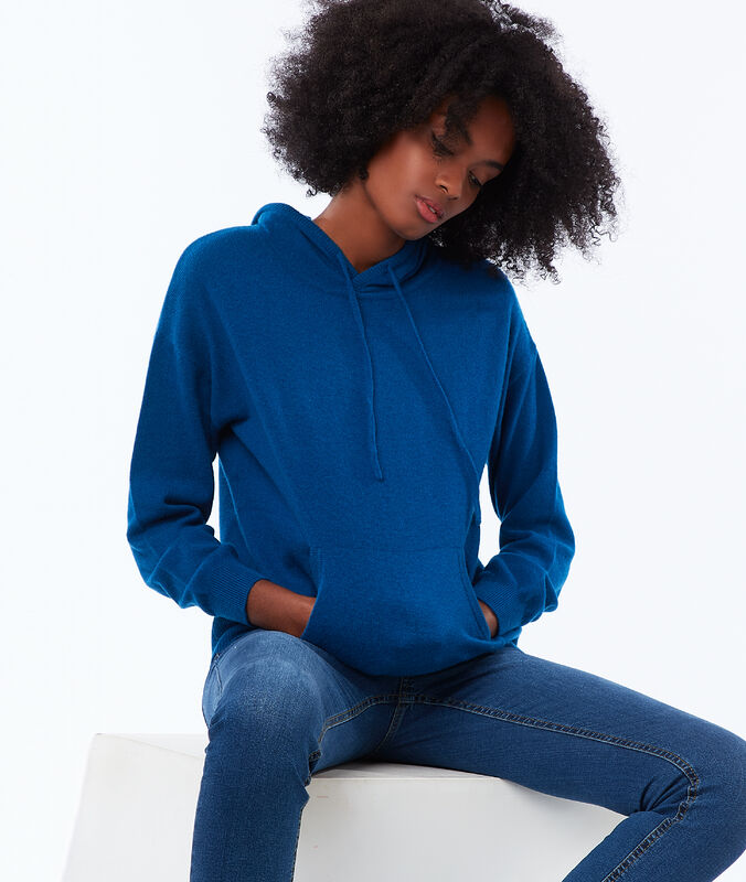 Pullover mit kapuze, 100 % kaschmir moonlight.