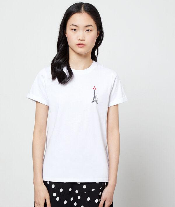 T-Shirt mit Stickereien aus Bio-Baumwolle