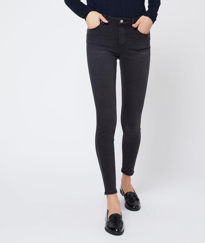 Slim-jeans schwarz.