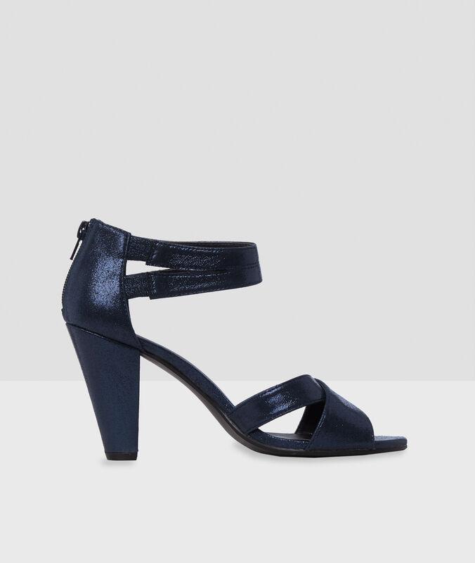 Sandalen mit hohem absatz marineblau.