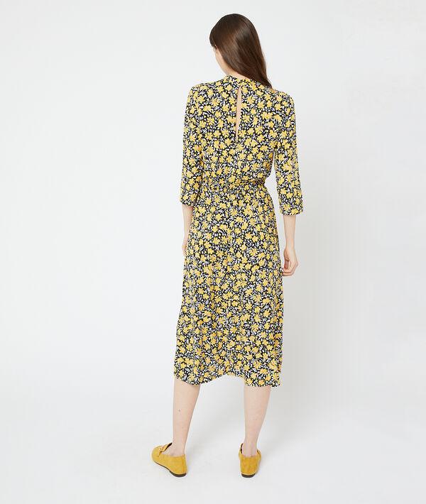 Langes Kleid mit floralem Print