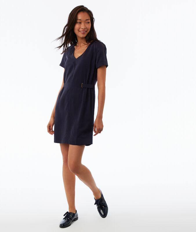 Kleid aus tencel® marineblau.