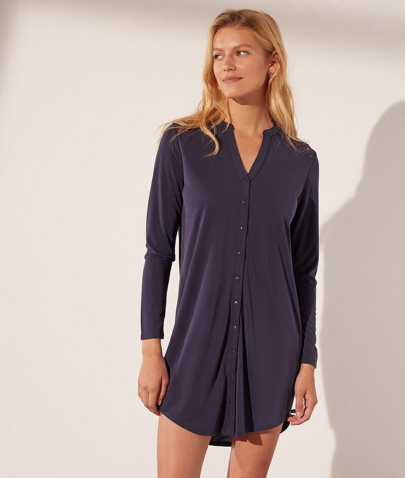 Hemdkleid mit Spitzenrücken