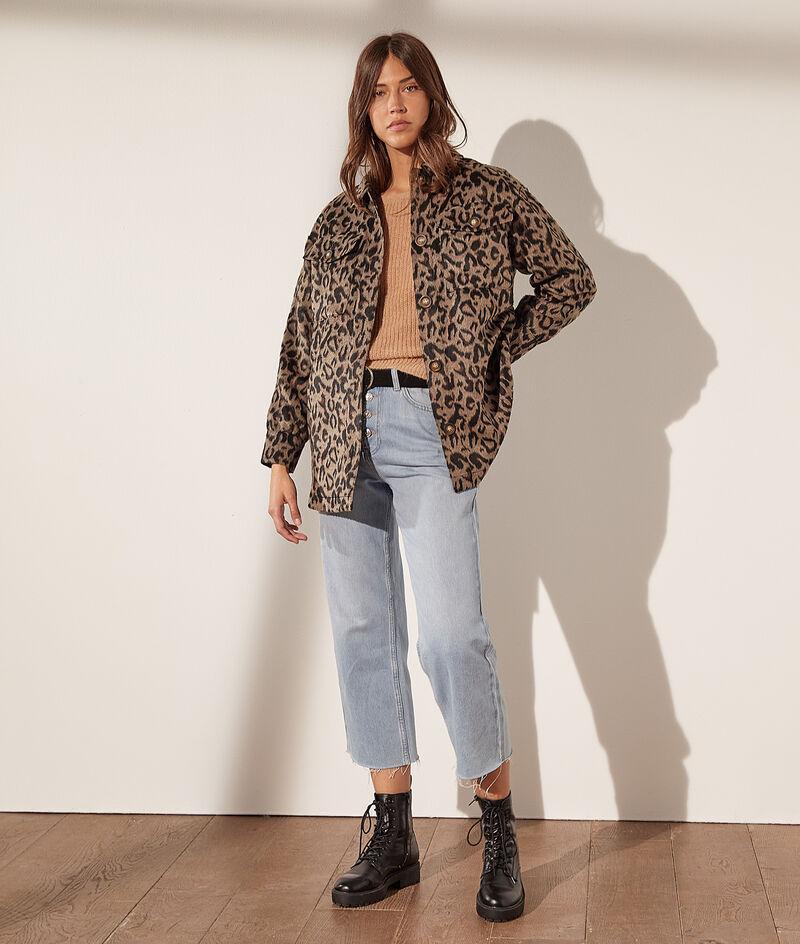 Überhemd mit Leopardenmuster und Taschen