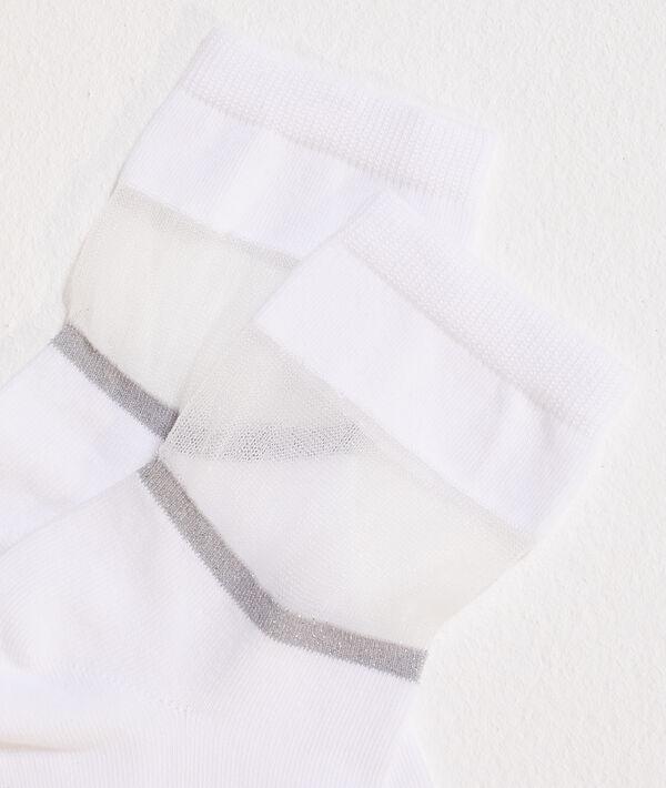 Socken aus zweierlei Material