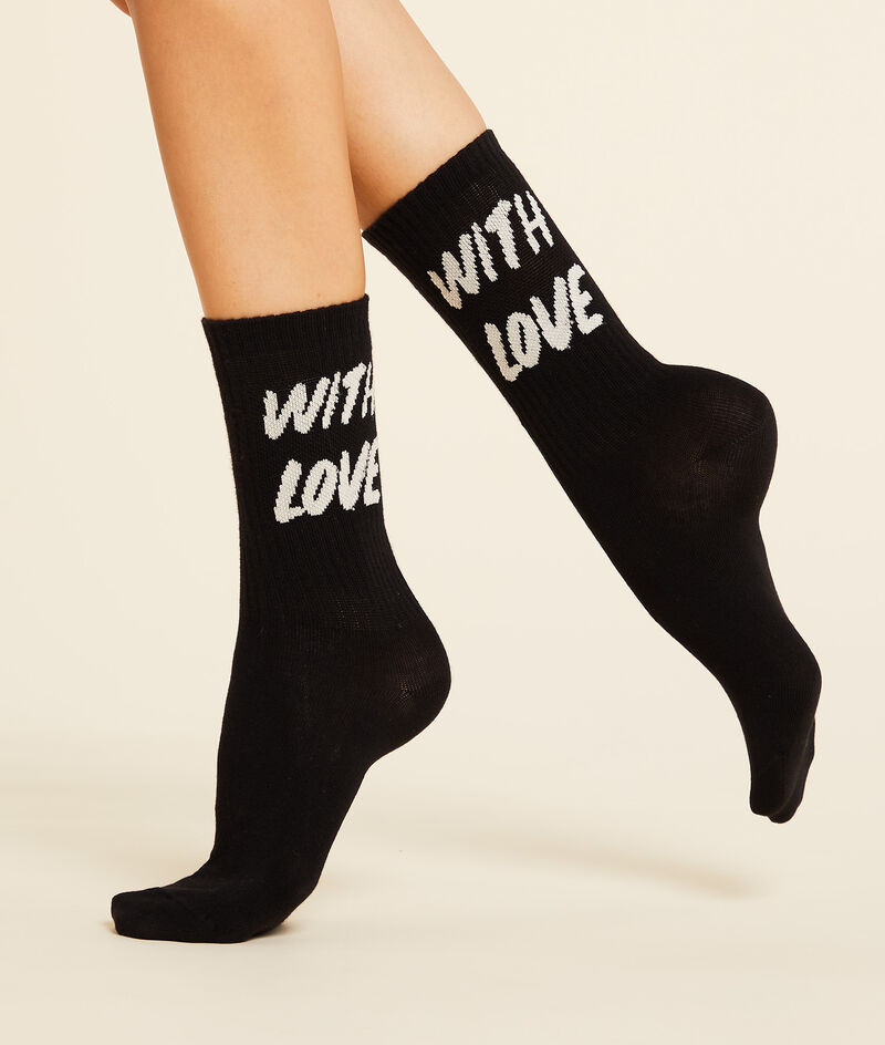 """Chaussettes mode """"With love"""""""