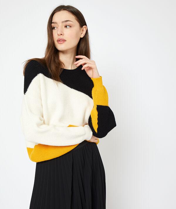 Pullover aus grobem Strick mit grafischem Muster