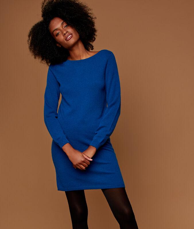 Pulloverkleid, 100 % kaschmir moonlight.