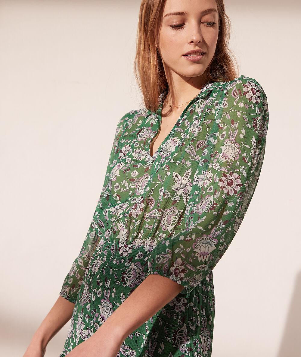 Kleid mit floralem Print   ISANA   CHLOROPHYLLE   ETAM