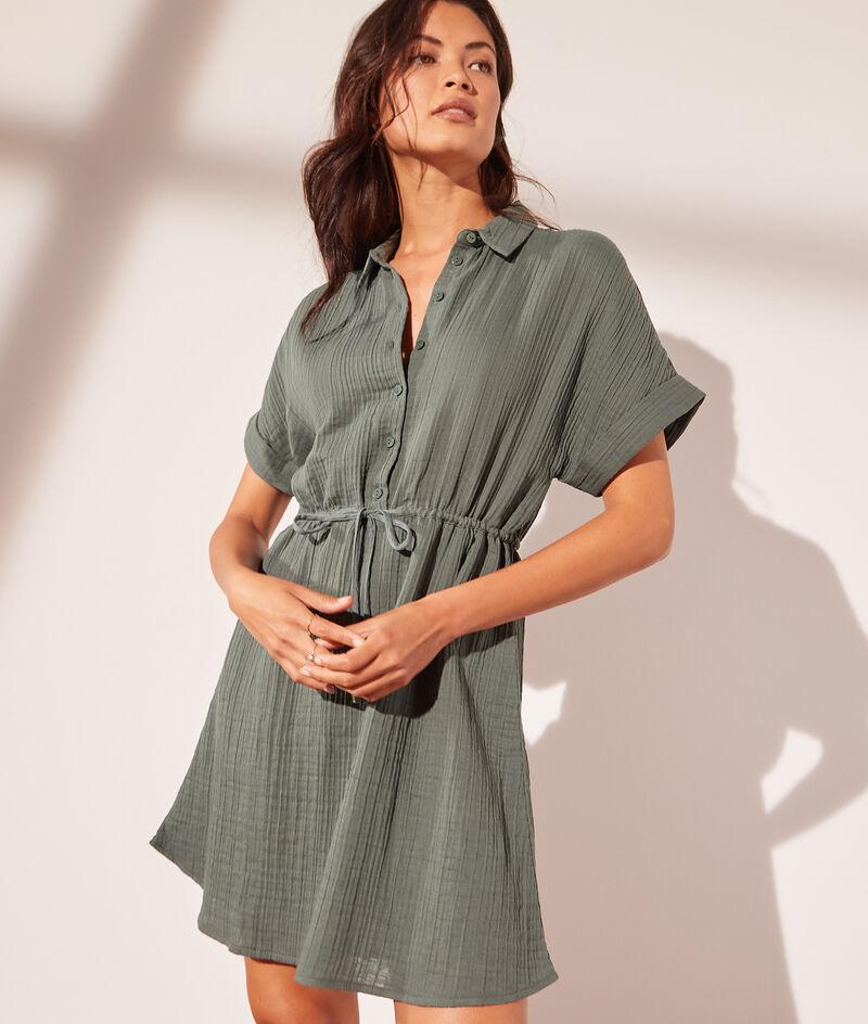 Hemdblusenkleid aus Baumwollgaze