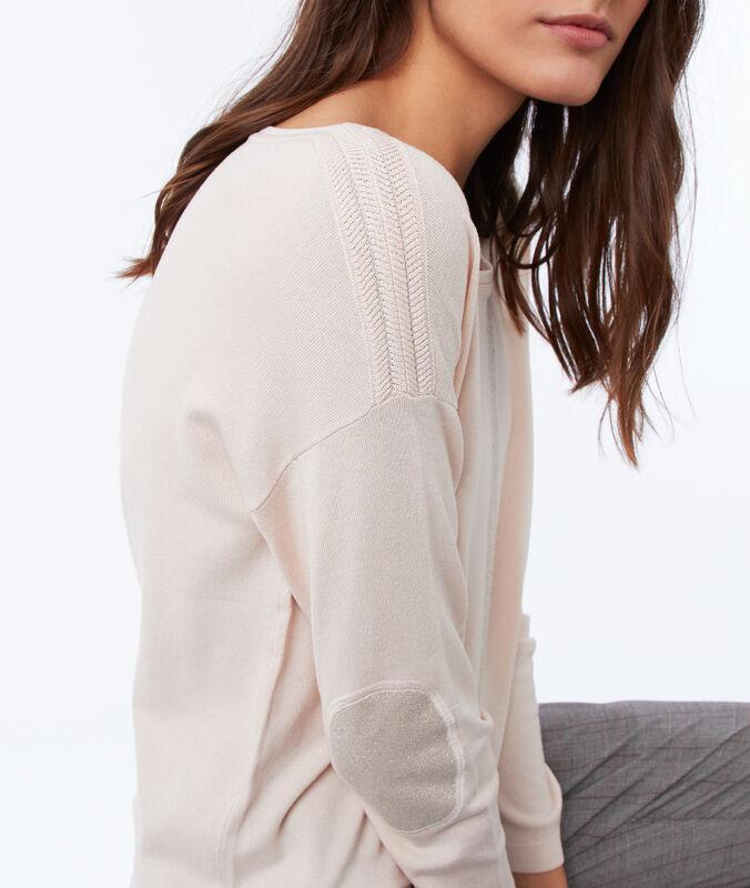 Pullover mit u-boot-ausschnitt nude.