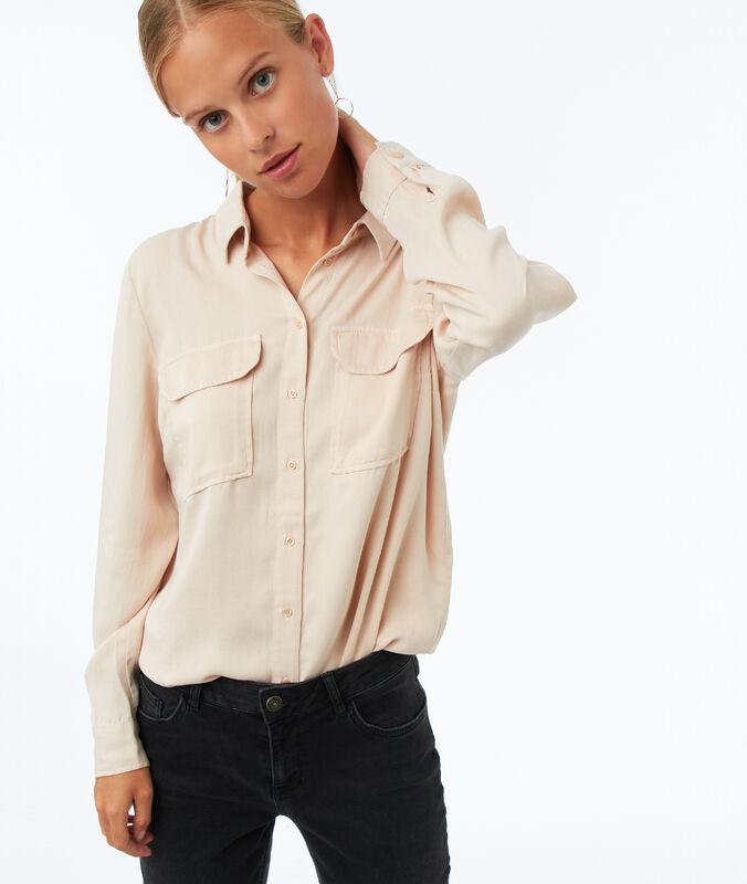 Bluse mit zwei taschen aus tencel® sand.