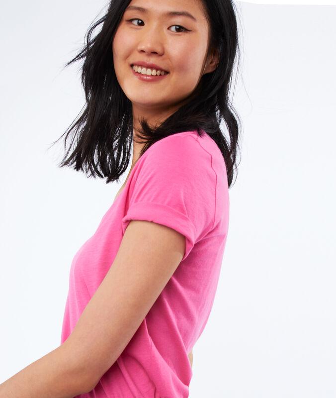 T-shirt mit v-ausschnitt rosa.