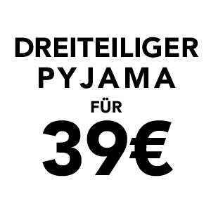 Dreiteiliger Pyjama für 39€