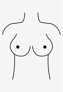 Melonen-förmige Brüste