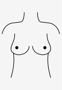 Birnen-förmige Brüste