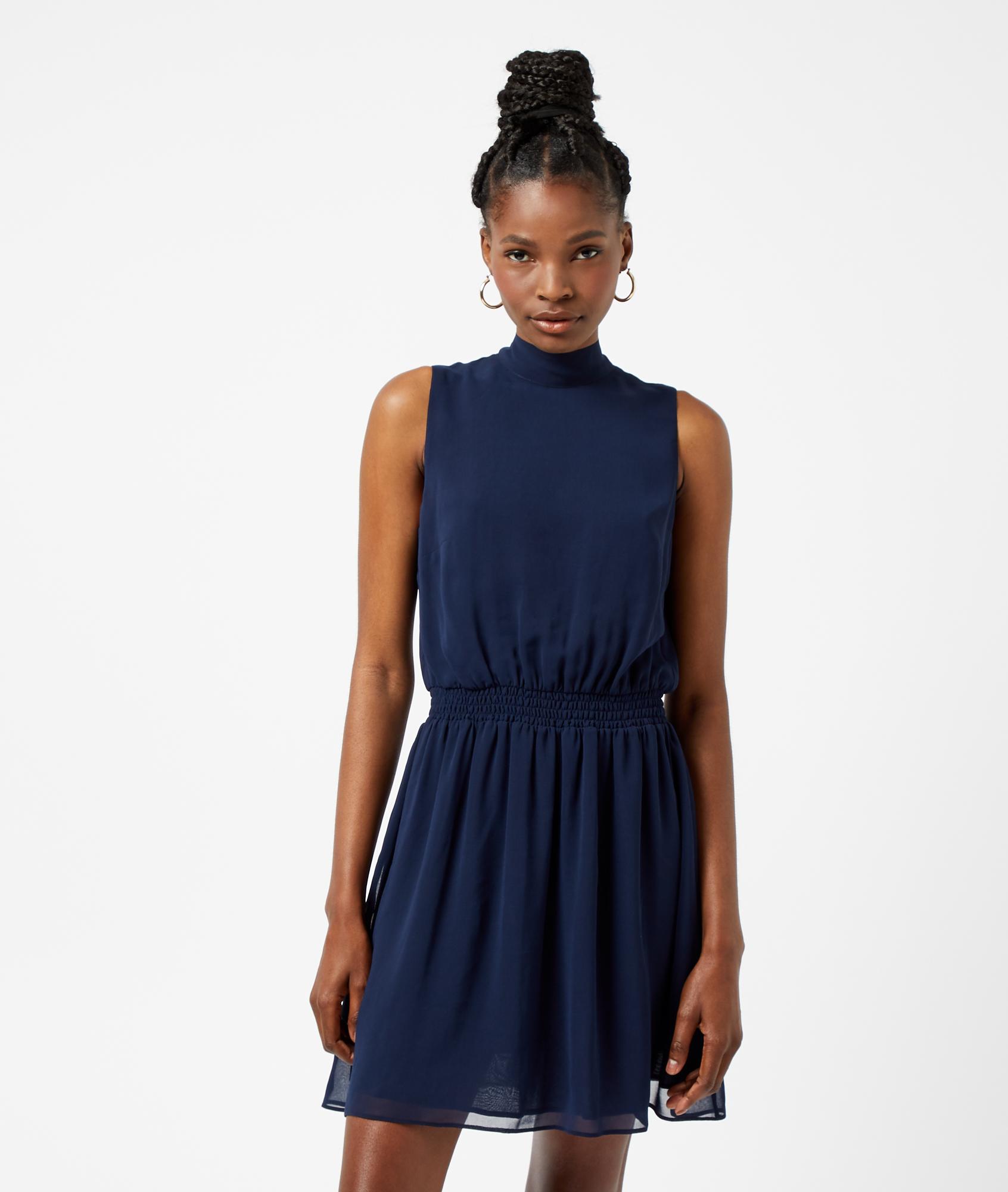 gesmoktes kleid mit offenem rücken polyester - etam